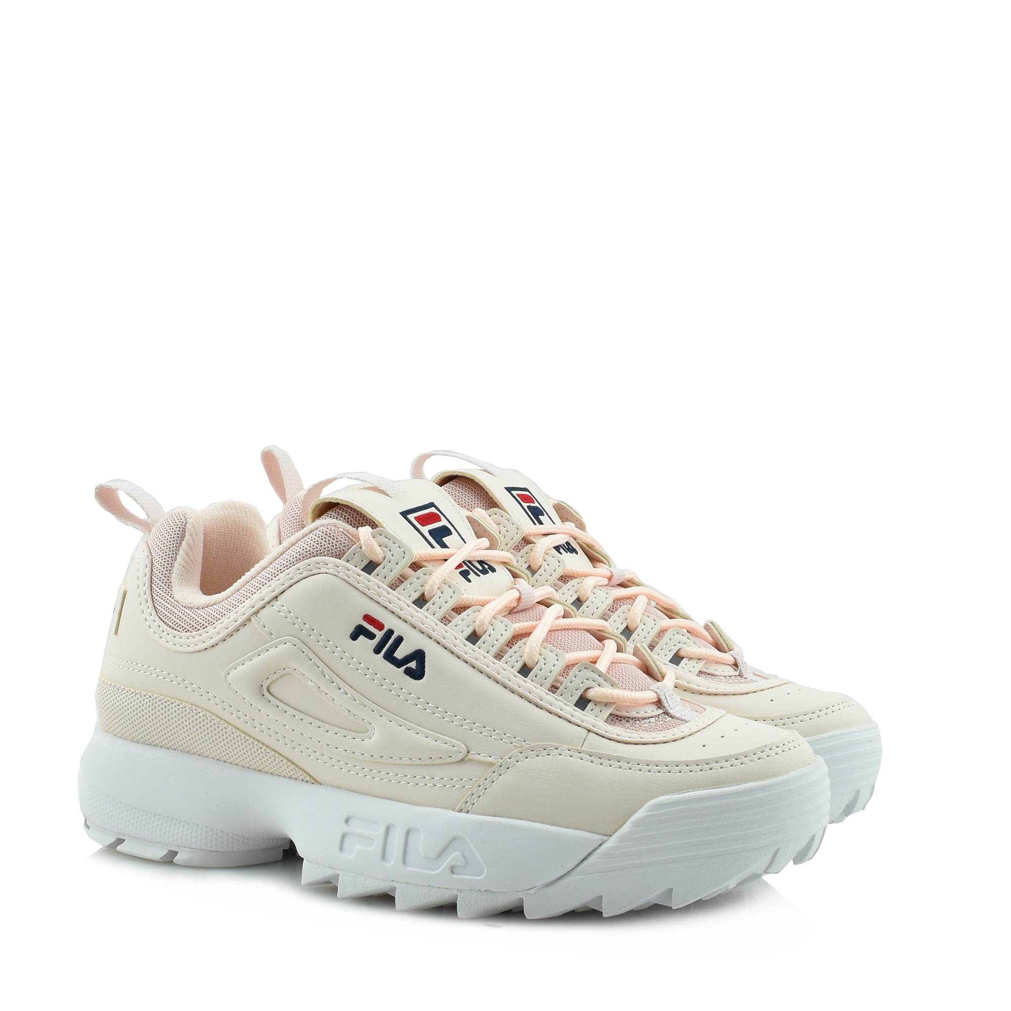 DUOMO | FILA DISRUPTOR LOW BLACK SNEAKERS ΔΕΤΟ ΠΑΠΟΥΤΣΙ