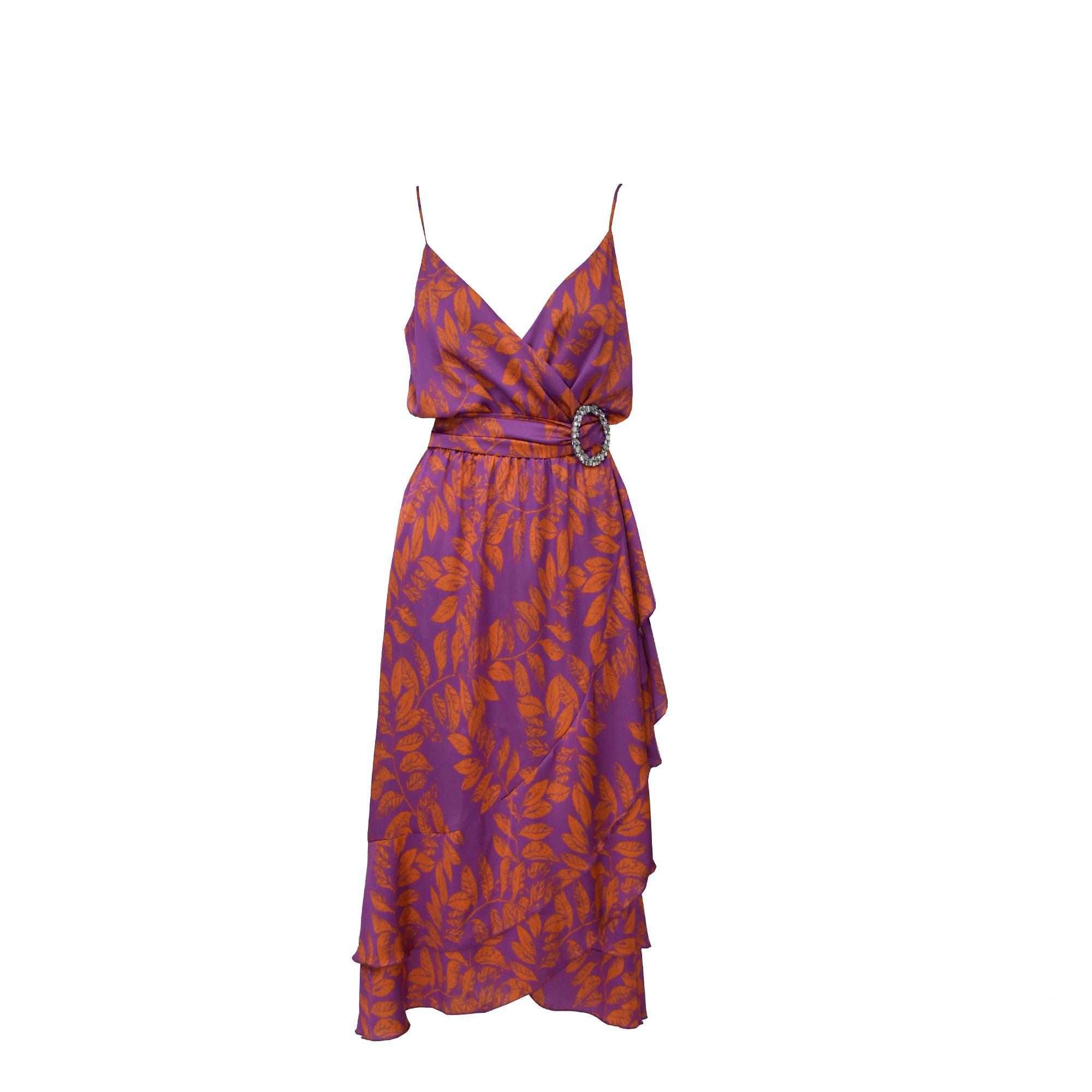 MIX & MATCH WRAP DRESS - 20015 PURPLE