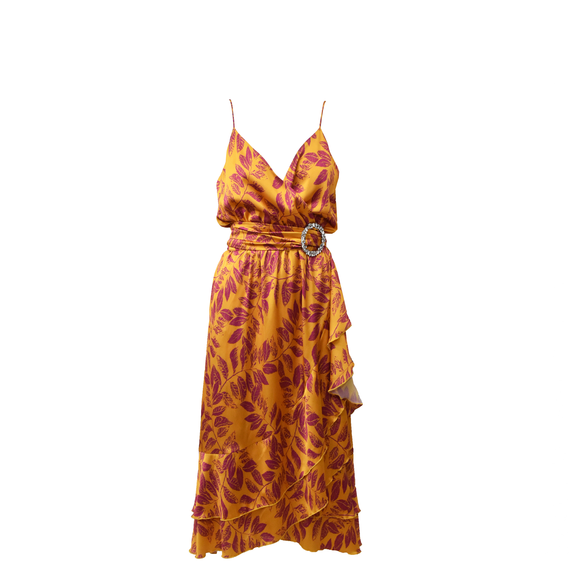 MIX & MATCH WRAP DRESS - 20015 YELLOW