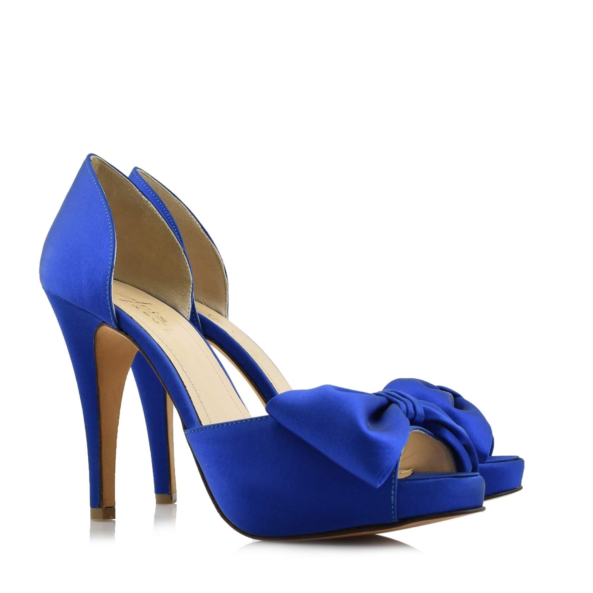 BRIDAL SHOES ARIS TSOUBOS BLUE - M-LO BLUE